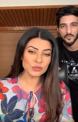 Sushmita Sen and Rohman Shawl
