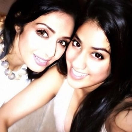 Sridevi and her daughter jahnavi