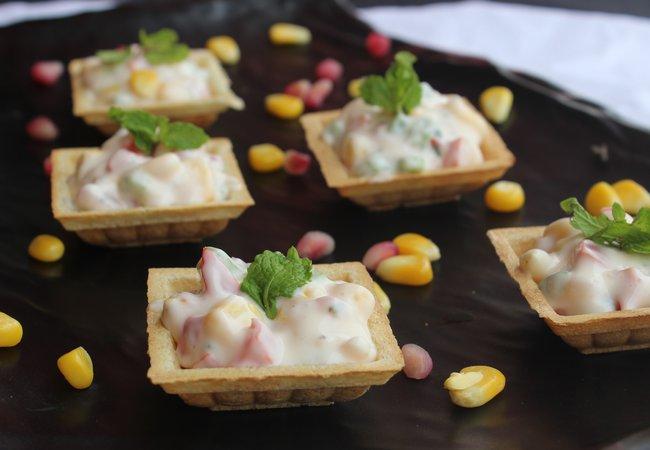 Potato-Corn Canapes