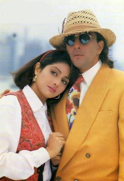 Sanjay Dutt and Sridevi