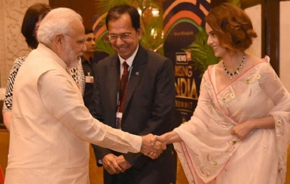 Kangana Ranaut and Pm Modi