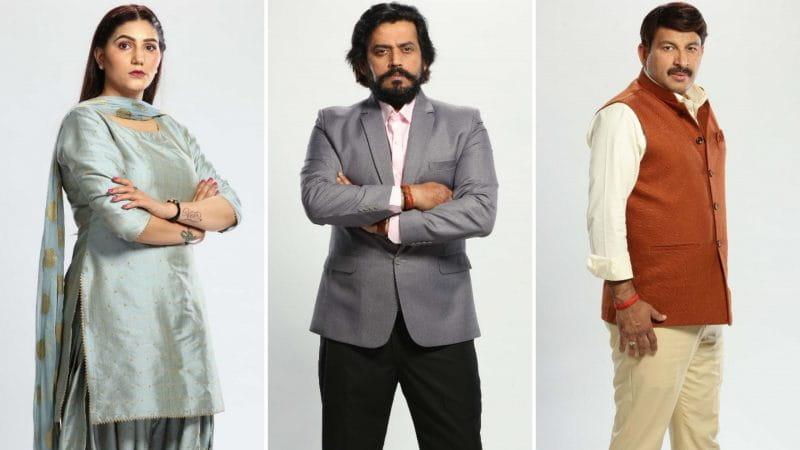 Sapna Chaudhary, Manoj Tiwari and Ravi Kishan