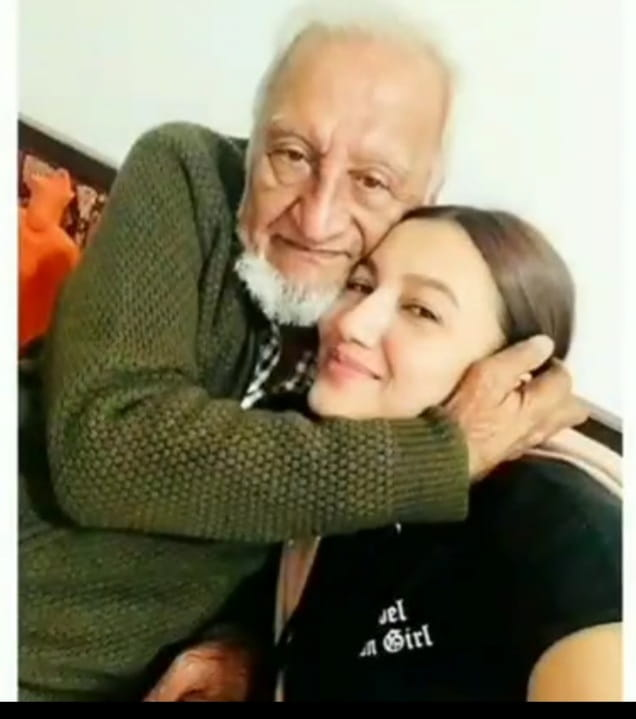 Gauhar Khan With Her Father