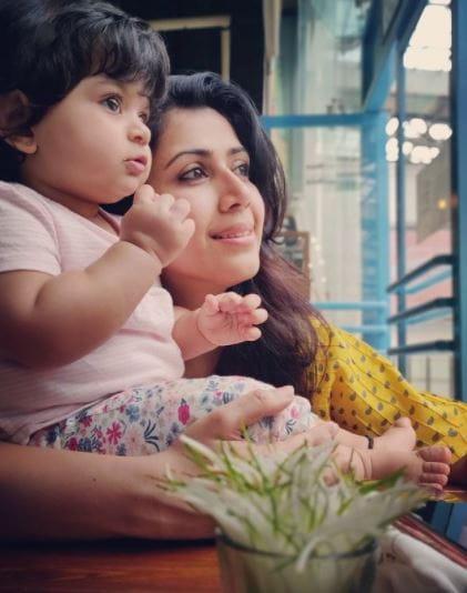 Ankita Bhargava With Daughter Meher