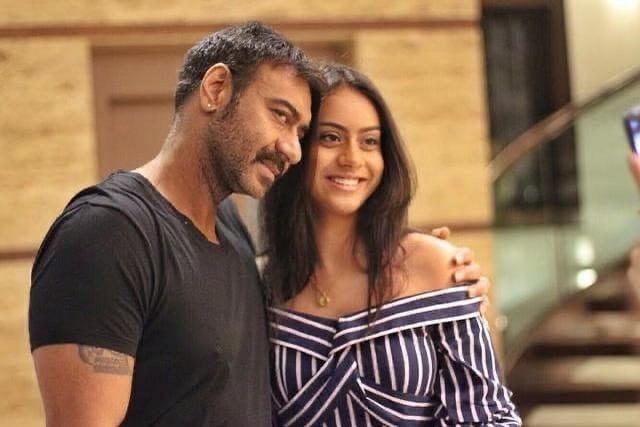Nysa Devgan and Ajay Devgan