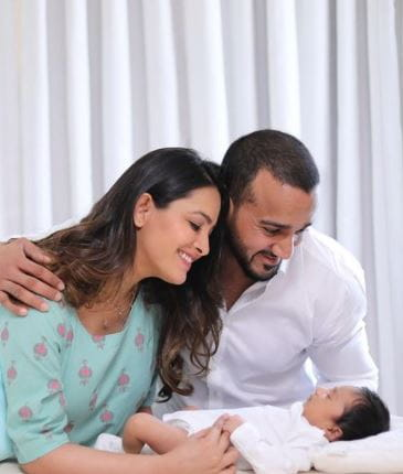 Anita Hassanandani and Rohit Reddy With Son Aaravv