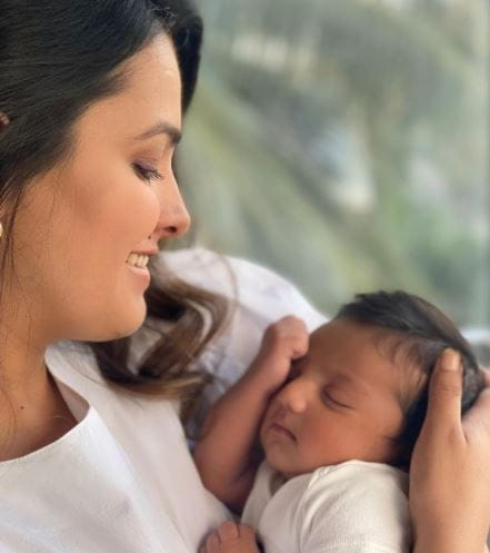 Anita Hassanandani With Son Aaravv