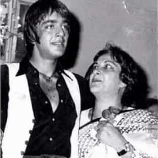 Sanjay Dutt With His Mother Nargis Dutt