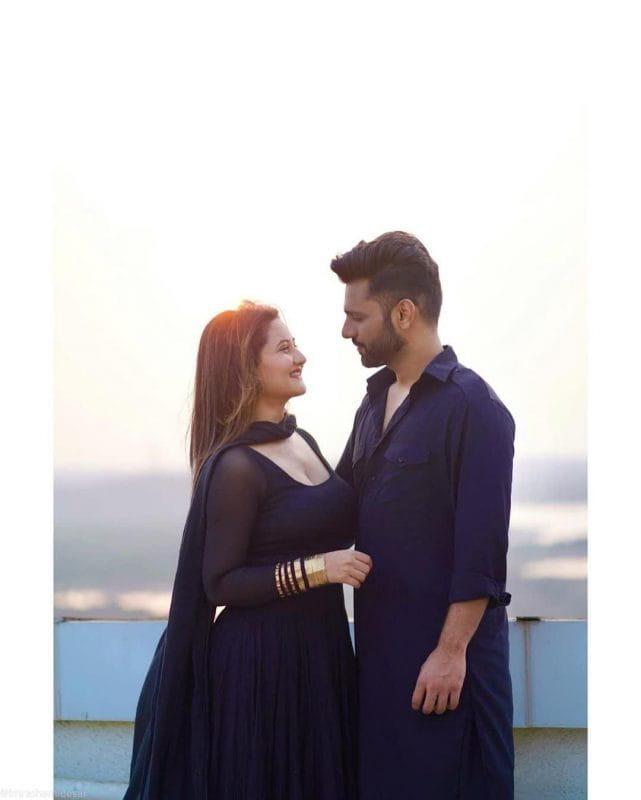 Rahul Vaidya and Rashmi Desai