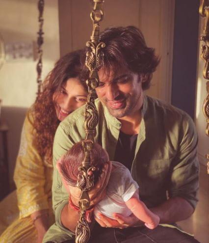 Mohit Malik And Aditi With Son Ekbir