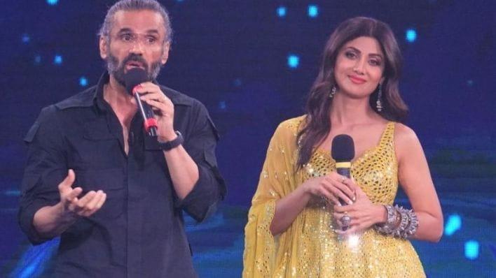 Shilpa Shetty and Suniel Shetty