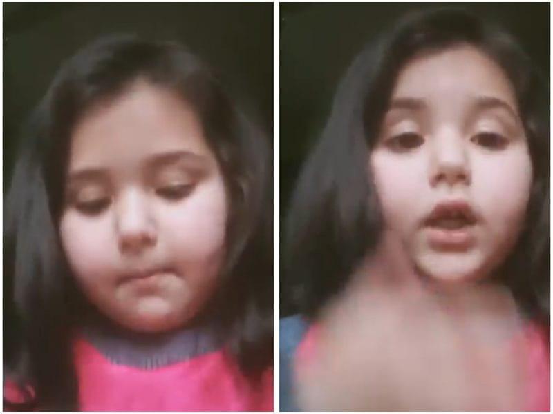 6-Year-Old Kashmiri Girl Complains to PM Modi