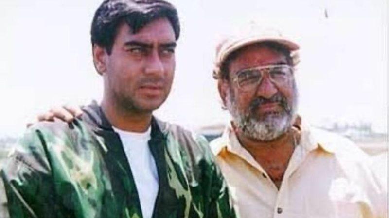 Ajay Devgan and father Veeru Devgan
