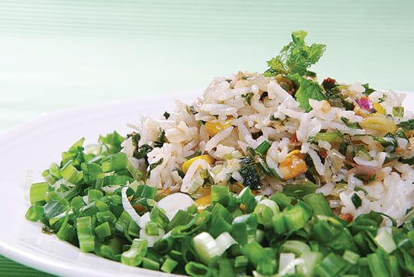 Corn-Mint Rice
