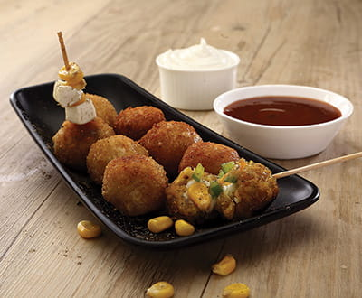 Corn-Paneer-Suji Balls